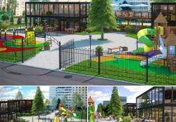 Фудкорт с детскими площадками